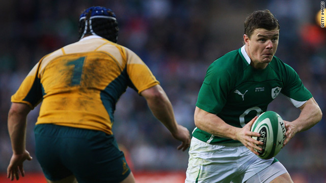 Ireland captain Brian O'Driscoll was his team's hero in front of a bumper crowd in Dublin.