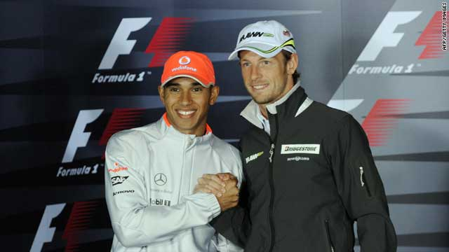 Jenson Button (right) and Lewis Hamilton (left) will be McLaren teammates for 2010.