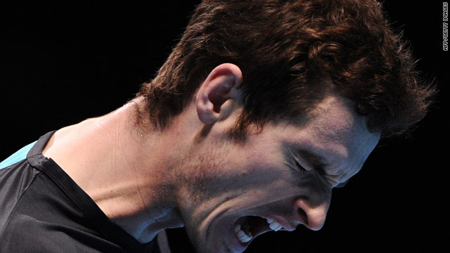 Andy Murray celebrates his hard-fought victory over Fernando Verdasco in London.