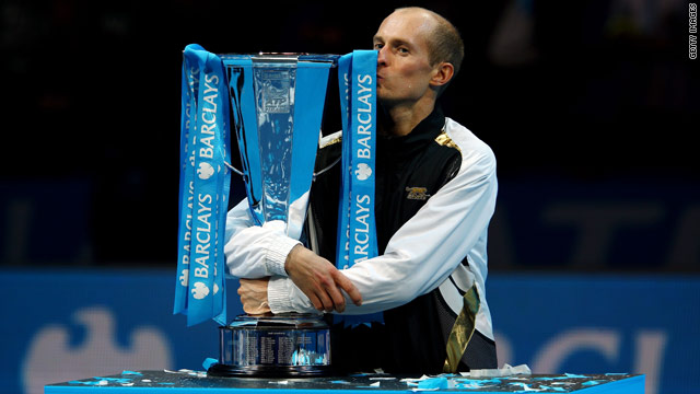 Davydenko was getting his hands on a major tennis trophy for the first time in his consistent career.