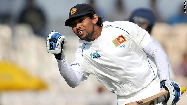 Dilshan signals his sixth Test century of 2009 on the first day in Mumbai.