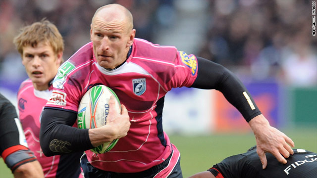 Gareth Thomas in action for Cardiff Blues against his former club Toulouse in a Europaen club tie on Saturday.