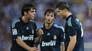 Real Madrid's expensive teammates Kaka and Cristiano Ronaldo are both nominated