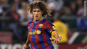 Captain Carlos Puyol has signed a contract that will keep him with Barcelona until 2013.