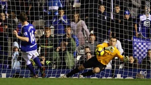 Shay Given saves James McFadden's penalty as Manchester City drew 0-0 at Birmingham.