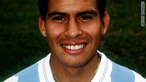 Caceres played for Argentina in the 1993 Copa America and World Cup a year later.