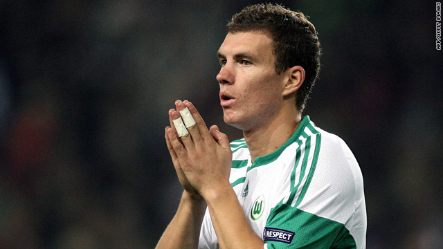 Dzeko scored 26 goals in helping Wolfsburg to last season's Bundesliga title.