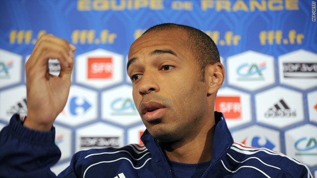Henry has been at the center of the controversy since his double handball set up France's decisive goal.