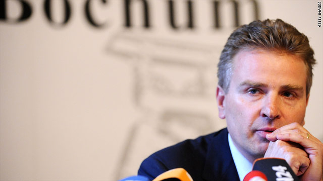 UEFA representative Peter Limacher addresses a news conference in Germany into the match-fixing.