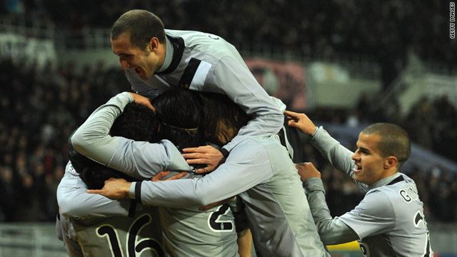 Grosso's goal for Juventus was greeted with joy by his teammates in Turin.