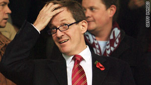 Alastair Campbell at Turf Moor. The Clarets have already beaten Manchester United there this season.