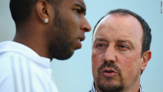 Ryan Babel (left) and Rafael Benitez (right), seemingly do not see eye-to-eye.