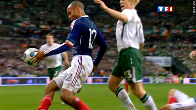 Henry's handball has provoked a storm of controversy as France qualified for the World Cup finals.