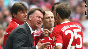 Bayern Munich boss Louis Van Gaal has struggled to get his message across to the players this season.