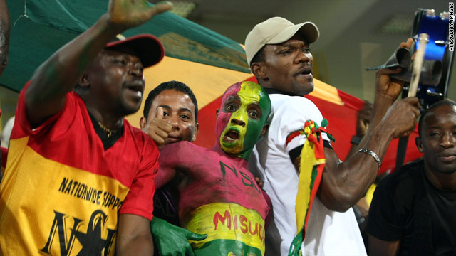 Ghana's fans will provide plenty of color and passion during the 2010 World Cup finals.