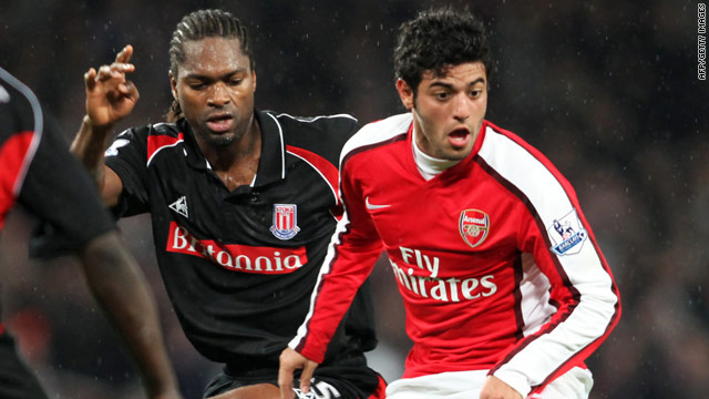 Carlos Vela (right) has become the 11th Arsenal player to sign a new contract this season.