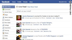 "Facebook added a ""live feed"" to its homepage this week."