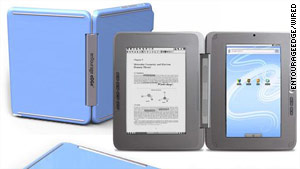 The eDGe device will fold like a book and will be used as an e-reader and a netbook.