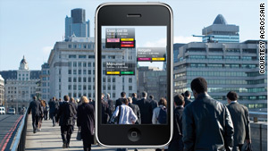 """Augmented reality"" can combine live video with data and information from the Internet."