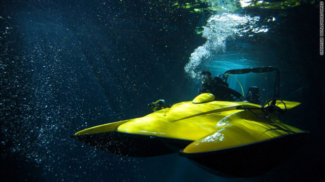 Scubacraft uses an internal-combustion engine to reach depths of 100 feet.