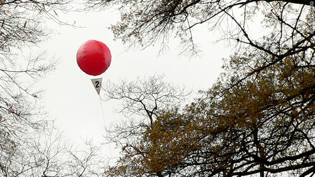 Ten floating red balloons across the United States will be the target in Saturday's challenge.