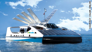 Australian company Solar Sailor is introducing the first solar and wind-powered ferries in Hong Kong's harbor.