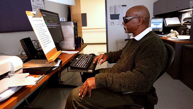 Better technologies help visually impaired people, and others, use the Internet more easily.