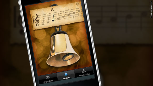 The HolidayBells app lets you play sleigh bells by shaking your smartphone and create melodies by tapping hand bells.