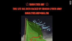 "People who tried to access Twitter early Friday were redirected to a Web site from the ""Iranian Cyber Army."""