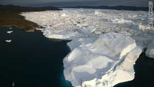 The melting of ice caps in Greenland and the Antarctic could mean sea levels rising by 0.5 meters, the report says.