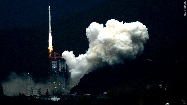 China's first lunar probe blasted off from its launch pad at the Xichang Satellite Launch Center on October 24, 2007.