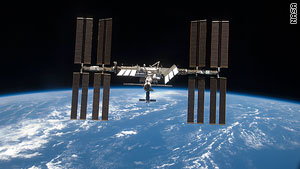 An astronaut and a cosmonaut are aboard the international space station.