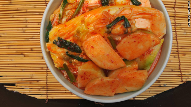 Many Korean-Americans serve the spicy, fermented vegetable dish kimchi alongside turkey on Thanksgiving.