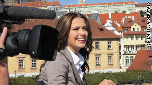 Petra Nemcova told CNN about growing up under communism, surviving the Asian Tsunami and her love for Prague.