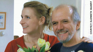 """Eat, Pray, Love"" author Elizabeth Gilbert on her wedding day with Felipe, the Brazilian-born man she met in Indonesia."