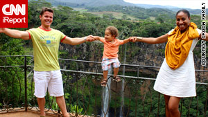 Mikolaj Sroda and Loverly Jn Paul met in Fiji. He is Polish, she is a native of St. Lucia. They live in Sweden with their son.