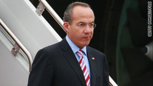 Mexican President Felipe Calderon has emphasized extraditions as part of his fight against drug cartels.