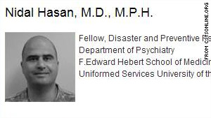 Reports say the alleged gunman at Fort Hood is Maj. Nidal Malik Hasan. It's not known if he is Muslim.