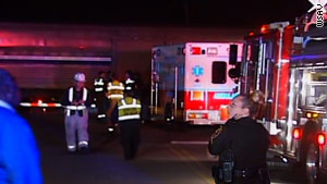 Crews worked almost three hours Monday night before being able to detach a car from an Amtrak train in South Carolina.