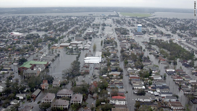 Flooding devastated New Orleans neighborhoods in the wake of 2005's Hurricane Katrina.