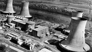 Three Mile Island nuclear plant, seen in March 1979, was the site of the worst U.S. nuclear accident.