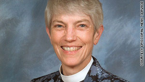 The Rev. Mary Douglas Glasspool was elected bishop late Saturday by the Los Angeles Episcopal Diocese.