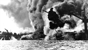 Anthony Mancini was an eyewitness to the carnage left by the Japanese attack on Pearl Harbor 68 years ago.