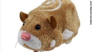 GoodGuide says Mister Squiggles, one of the Zhu Zhu hamsters, has unsafe levels of antimony.