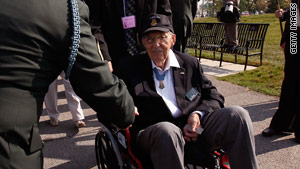 World War II veteran Vat T. Barfoot attends a Medal of Honor convention in Chicago, Illlinois, in September.