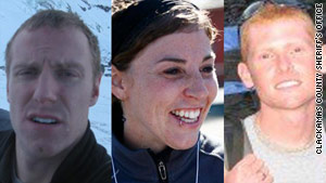 Luke Gullberg, left, Katie Nolan and Anthony Vietti went hiking on Oregon's Mount Hood. Gullberg, 26, was found dead.