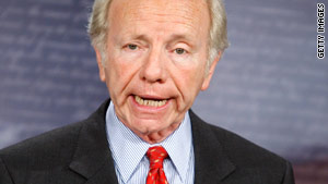 Sen. Joe Lieberman opposes a government-run public health insurance option and expanding Medicare.
