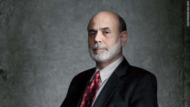 "Time magazine says Federal Reserve Chairman Ben Bernanke ""led an effort to save the world economy."""