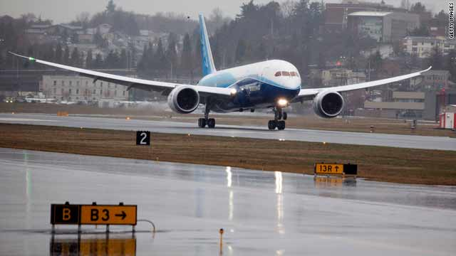 On Tuesday, Boeing made its first test flight of the 787 Dreamliner in Washington state.