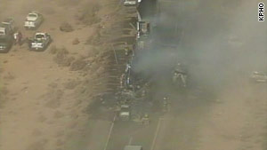A dust storm south of Phoenix caused crashes that killed  three people on I-10, authorities say.